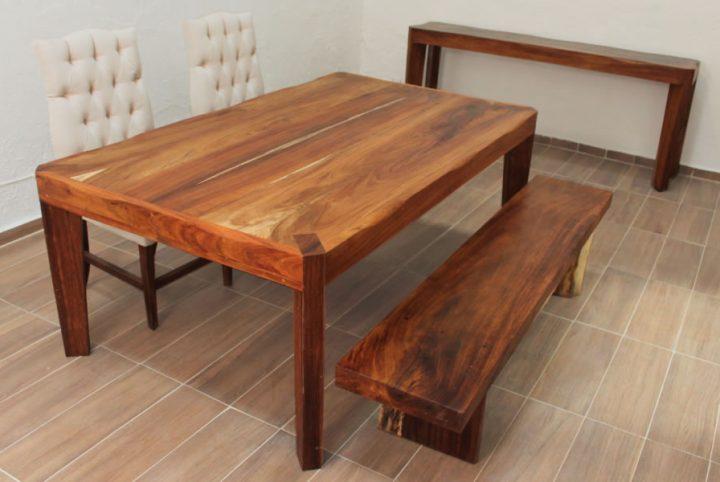 Mesa filos vivos con banca de parota el dorado galeria - Bancas de madera para comedor ...